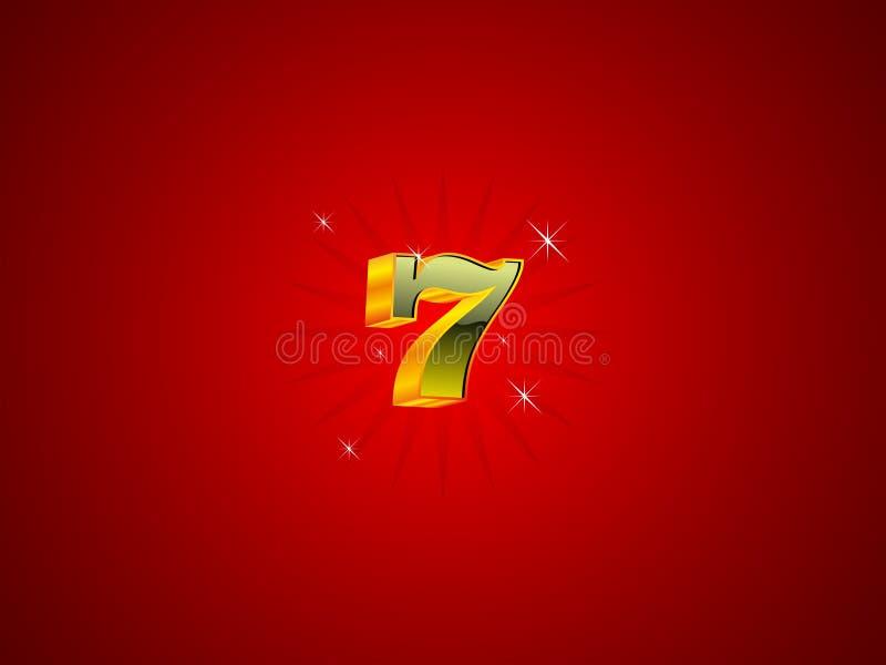 κόκκινο επτά απεικόνιση αποθεμάτων