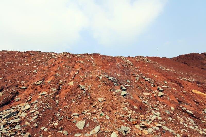 Κόκκινο εδαφολογικό Hill στοκ φωτογραφία με δικαίωμα ελεύθερης χρήσης