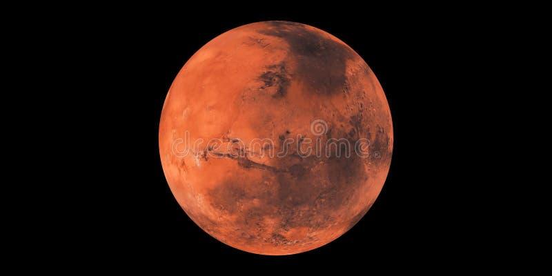 Κόκκινο ηλιακό σύστημα πλανητών πλανητών του Άρη διανυσματική απεικόνιση