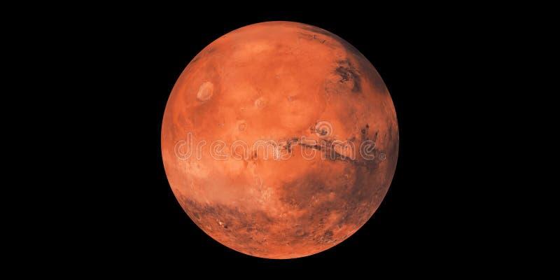 Κόκκινο ηλιακό σύστημα πλανητών πλανητών του Άρη απεικόνιση αποθεμάτων