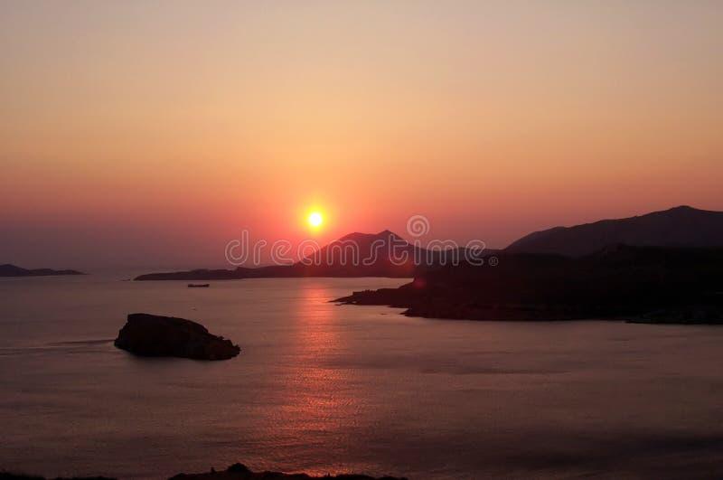 κόκκινο ηλιοβασίλεμα στοκ εικόνες με δικαίωμα ελεύθερης χρήσης