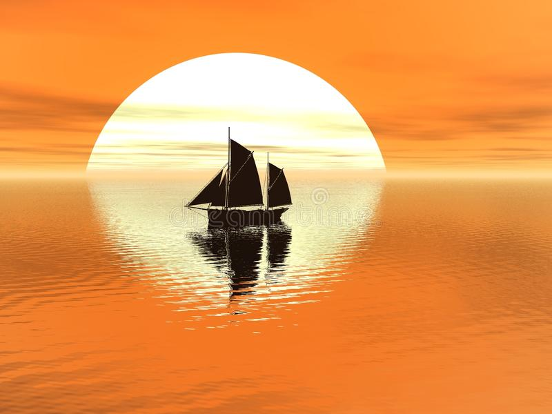 κόκκινο ηλιοβασίλεμα ελεύθερη απεικόνιση δικαιώματος