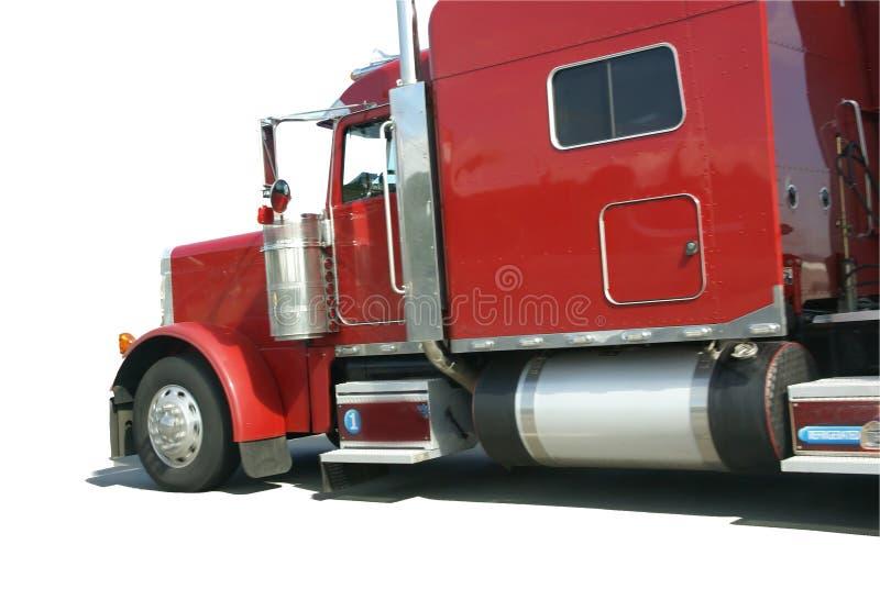 Κόκκινο ημι truck, που απομονώνεται στοκ εικόνες
