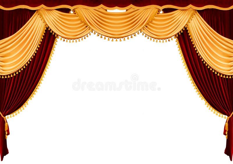 κόκκινο θέατρο κουρτινών διανυσματική απεικόνιση