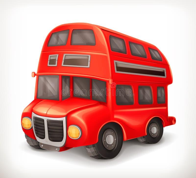 Κόκκινο διπλό λεωφορείο γεφυρών διανυσματική απεικόνιση