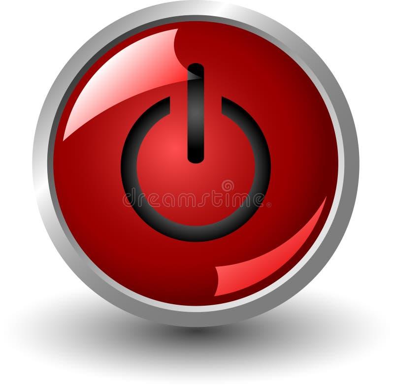 κόκκινο ισχύος κουμπιών διανυσματική απεικόνιση