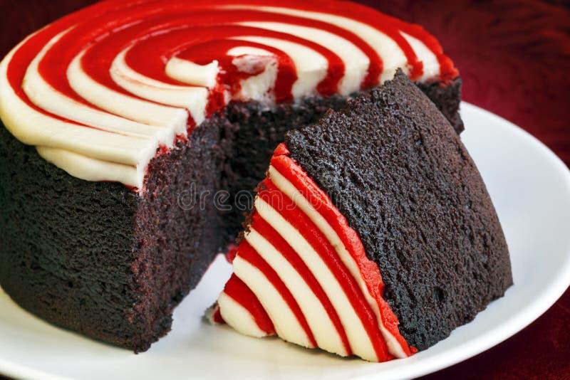Κόκκινο κέικ βελούδου στοκ φωτογραφίες