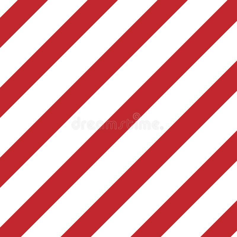 κόκκινο και άσπρο διαγώνιο πιάτο προσοχής λωρίδων διανυσματική απεικόνιση