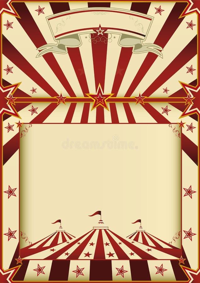 Κόκκινο και αφίσα τσίρκων κρέμας στοκ εικόνα με δικαίωμα ελεύθερης χρήσης