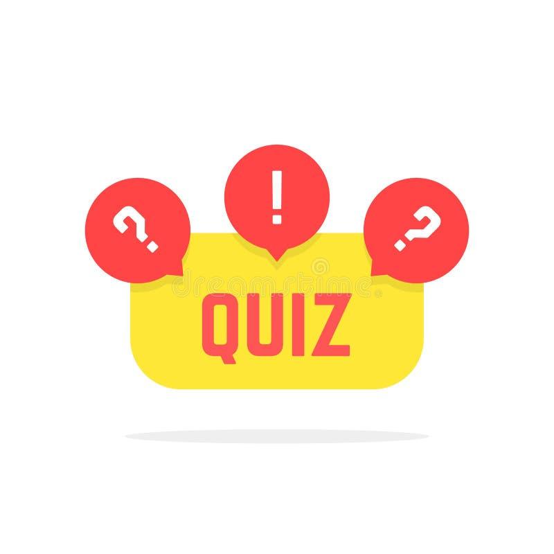 Κόκκινο και κίτρινο κουμπί διαγωνισμοου γνώσεων ελεύθερη απεικόνιση δικαιώματος