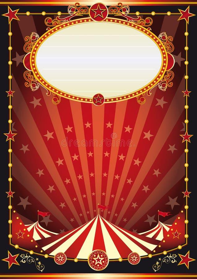 Κόκκινο και μαύρο υπόβαθρο τσίρκων στοκ εικόνες