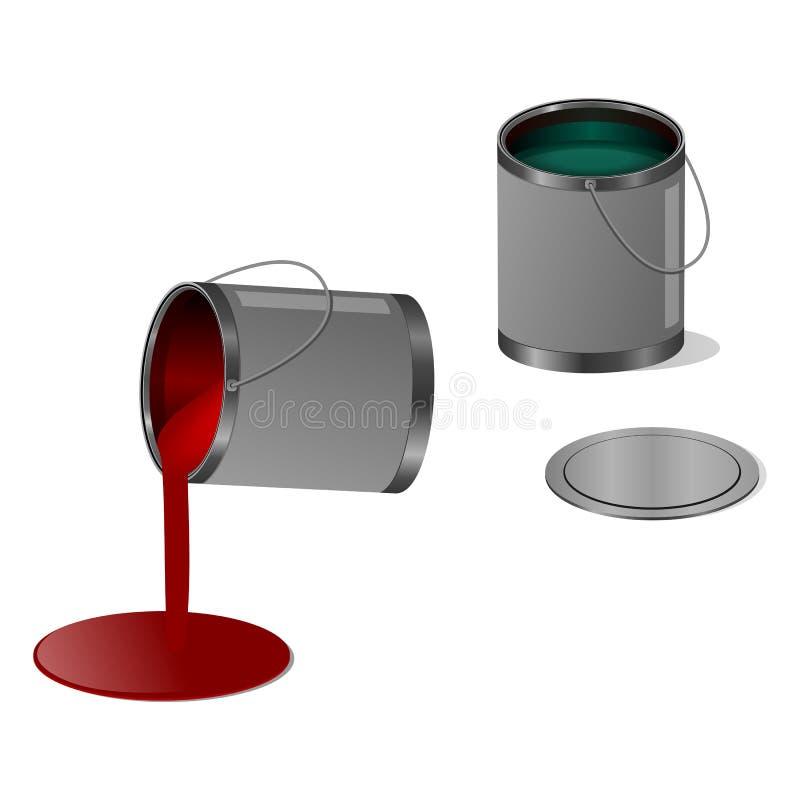 Κόκκινο και πράσινο χρώμα ελεύθερη απεικόνιση δικαιώματος