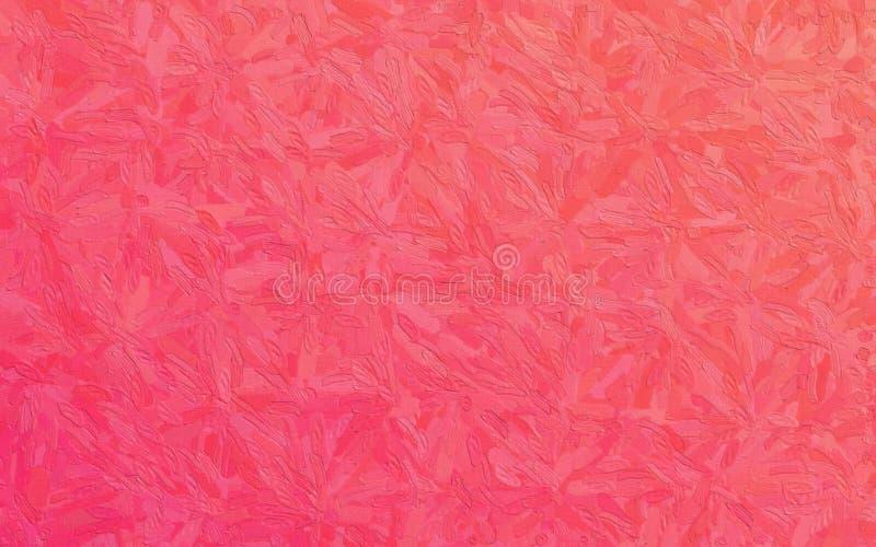 Κόκκινο και ρόδινο Impasto με τη μεγάλη απεικόνιση υποβάθρου κτυπημάτων βουρτσών στοκ φωτογραφίες με δικαίωμα ελεύθερης χρήσης
