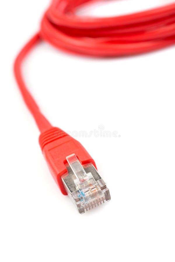 κόκκινο καλωδιακών δικτύ στοκ εικόνα με δικαίωμα ελεύθερης χρήσης