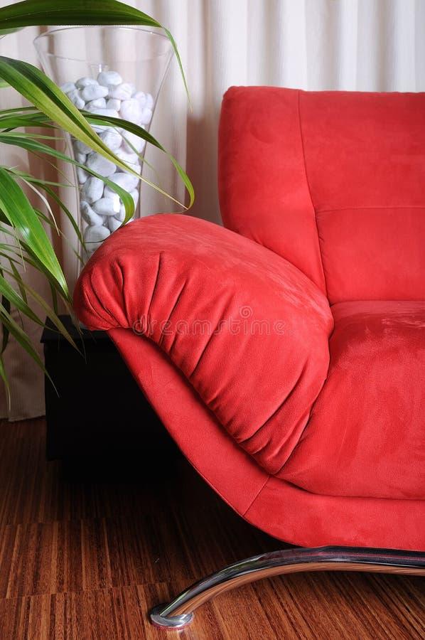 κόκκινο καναπέδων στοκ φωτογραφίες
