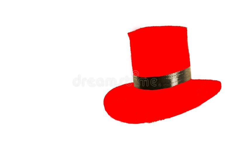 Κόκκινο καπέλο του Παναμά που απομονώνεται στο άσπρο υπόβαθρο στοκ φωτογραφίες