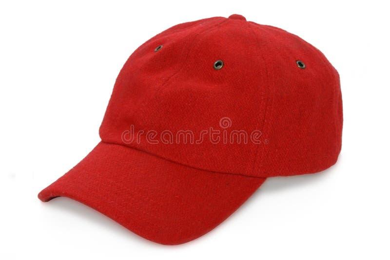 κόκκινο καπέλων μπέιζ-μπώλ στοκ εικόνες