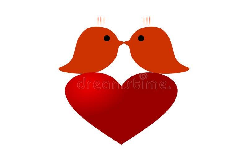 κόκκινο καρδιών άνδρας αγάπης φιλιών έννοιας στη γυναίκα διάνυσμα βαλεντίνων αγάπης απεικόνισης ημέρας ζευγών ελεύθερη απεικόνιση δικαιώματος