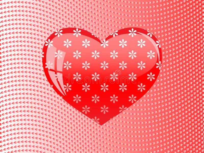 κόκκινο καρδιών γυαλιού απεικόνιση αποθεμάτων