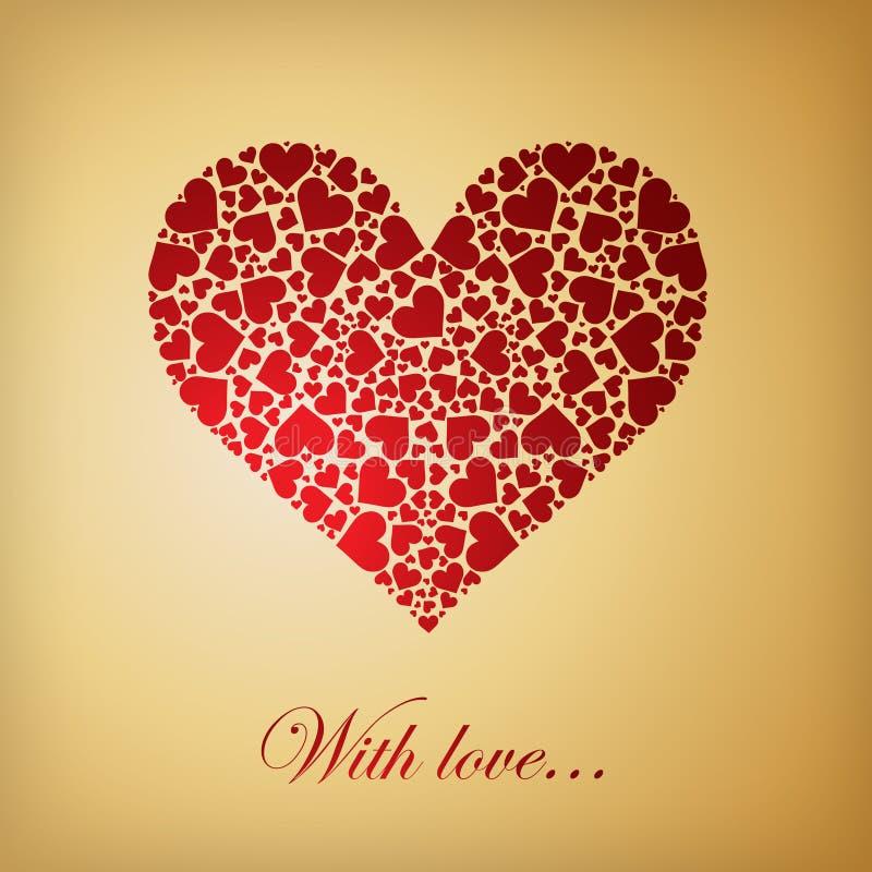 κόκκινο καρδιών καρδιών ελεύθερη απεικόνιση δικαιώματος