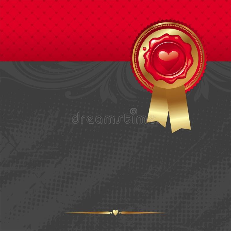 κόκκινο καρδιών σχεδίου &a ελεύθερη απεικόνιση δικαιώματος