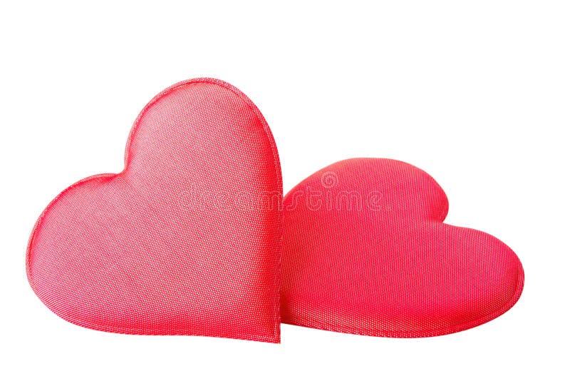 Download κόκκινο καρδιών υφάσματο&si Στοκ Εικόνες - εικόνα από καρδιές, εορτασμός: 22788412