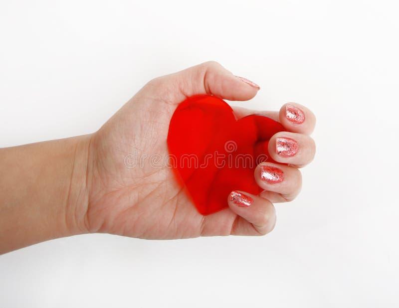 Download κόκκινο καρδιών χεριών στοκ εικόνα. εικόνα από υγεία - 22791685
