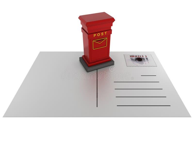 κόκκινο καρτών ταχυδρομι& ελεύθερη απεικόνιση δικαιώματος