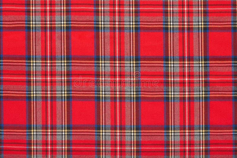 Κόκκινο καρό, ελεγμένο σκωτσέζικο υπόβαθρο υφάσματος στοκ εικόνες