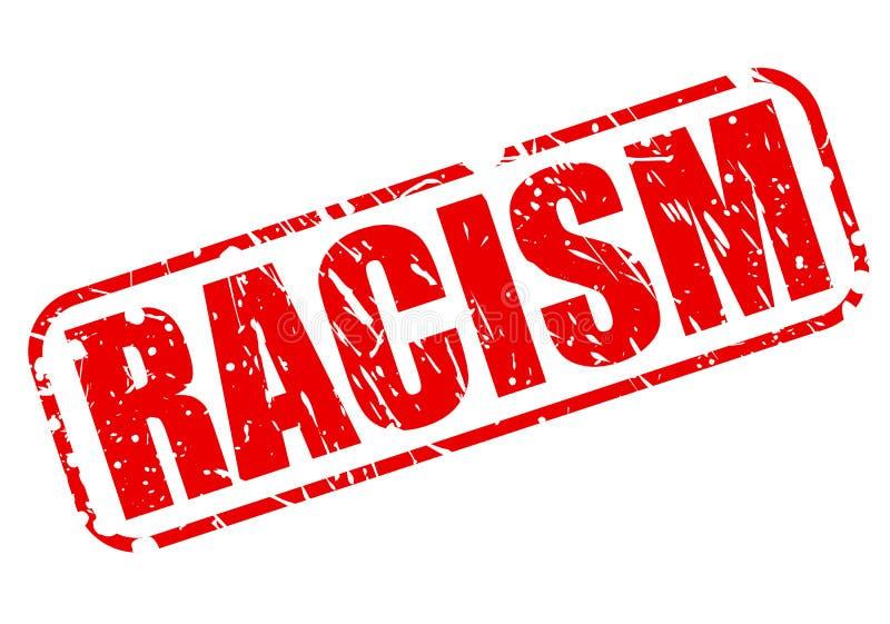 Κόκκινο κείμενο γραμματοσήμων ρατσισμού διανυσματική απεικόνιση