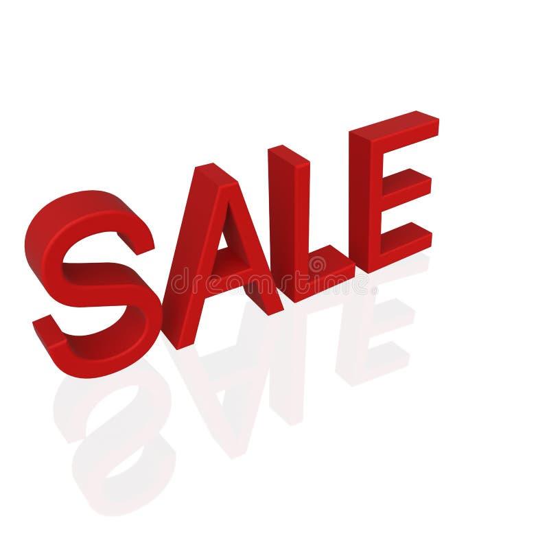 Κόκκινο κείμενο πώλησης στο άσπρο υπόβαθρο απεικόνιση αποθεμάτων
