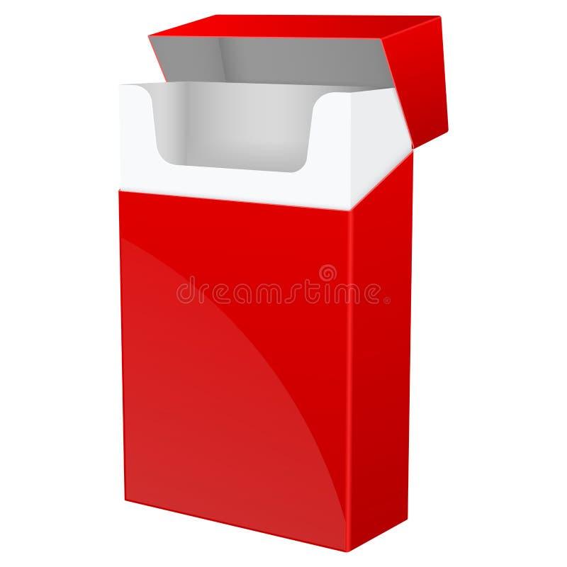 Κόκκινο κενό πακέτο των τσιγάρων απεικόνιση αποθεμάτων