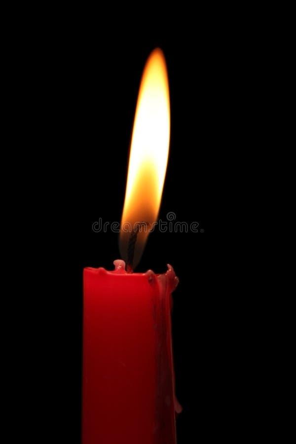 κόκκινο κεριών στοκ φωτογραφία με δικαίωμα ελεύθερης χρήσης
