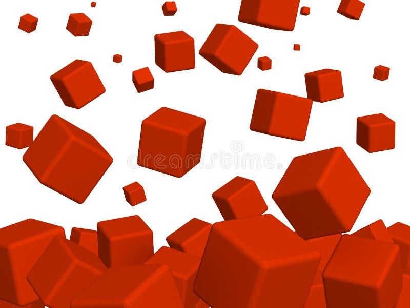 κόκκινο κιβωτίων ελεύθερη απεικόνιση δικαιώματος