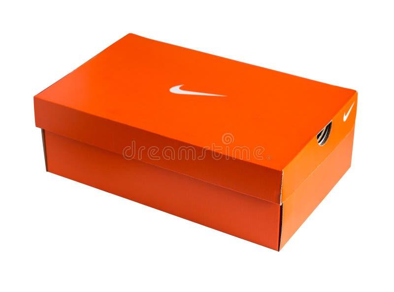 Κόκκινο κιβώτιο παπουτσιών της Nike στοκ φωτογραφίες