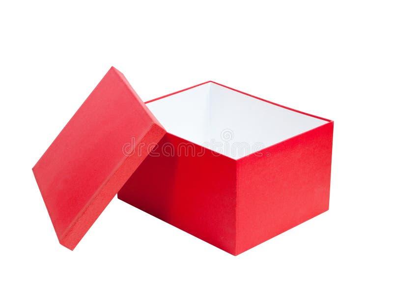 Κόκκινο κιβώτιο δώρων χαρτονιού στοκ εικόνα με δικαίωμα ελεύθερης χρήσης
