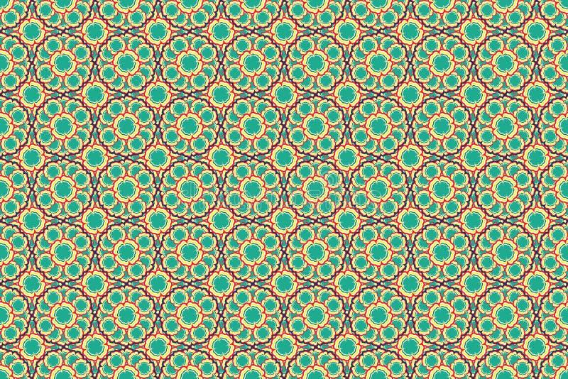 Κόκκινο κιτρινοπράσινο και μπλε ζωηρόχρωμο υπόβαθρο ταπετσαριών σύστασης σχεδίων σχεδίου έργου τέχνης απεικόνισης λουλουδιών στοκ εικόνες