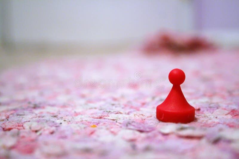 κόκκινο κομματιού παιχνιδιών στοκ φωτογραφία με δικαίωμα ελεύθερης χρήσης