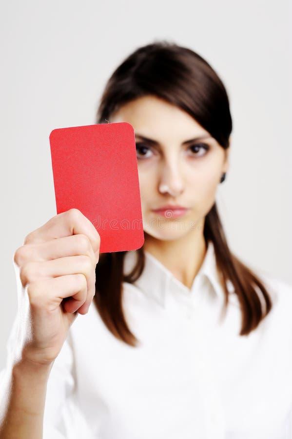 κόκκινο κοριτσιών καρτών στοκ εικόνες