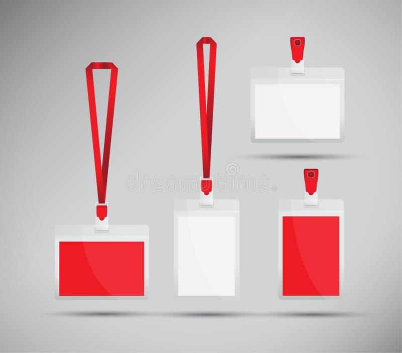 Κόκκινο κορδόνι διανυσματική απεικόνιση