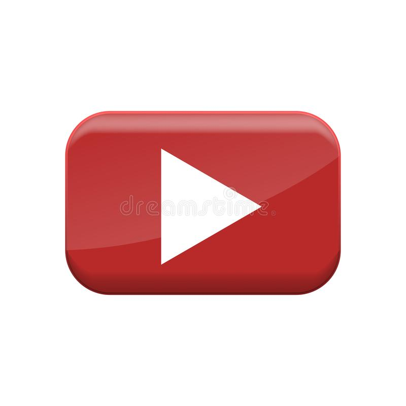 Κόκκινο κουμπί παιχνιδιού ελεύθερη απεικόνιση δικαιώματος
