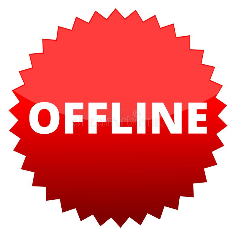 Κόκκινο κουμπί off-$l*line απεικόνιση αποθεμάτων