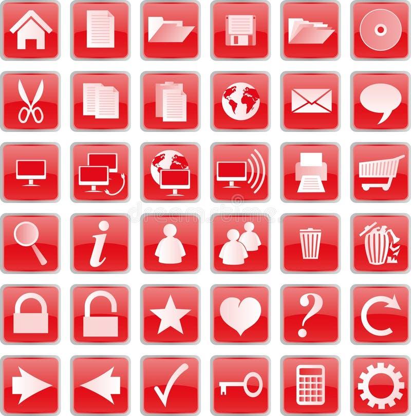 κόκκινο κουμπιών απεικόνιση αποθεμάτων