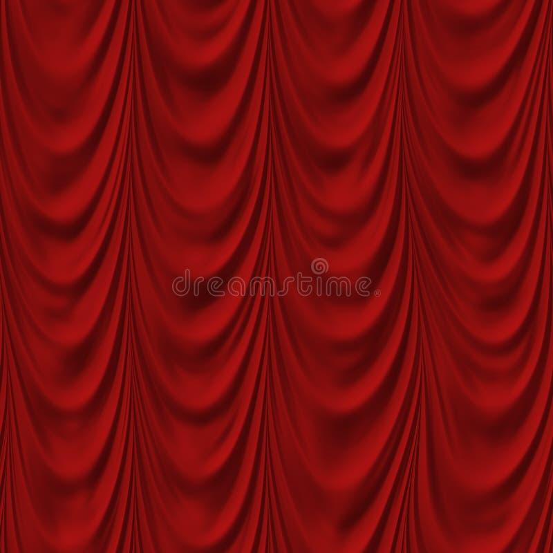 κόκκινο κουρτινών στοκ εικόνα με δικαίωμα ελεύθερης χρήσης