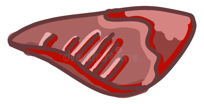 Κόκκινο κρέας, απεικόνιση, φορέας απεικόνιση αποθεμάτων