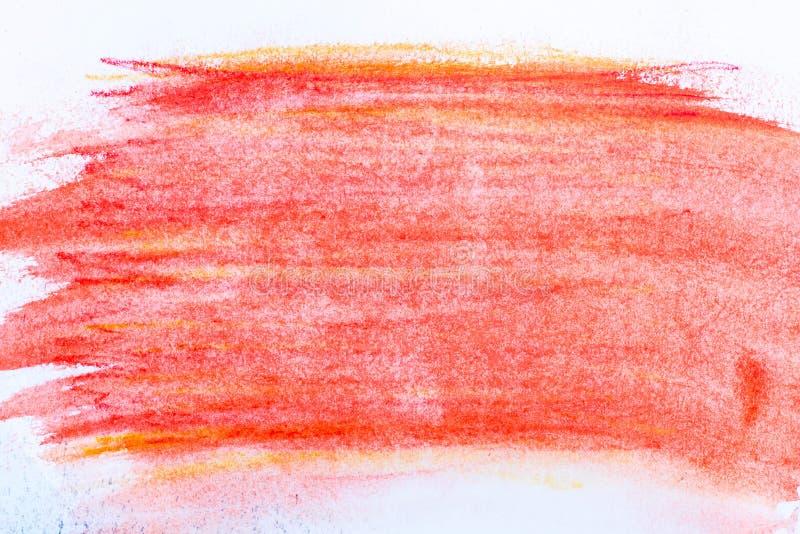 Κόκκινο κραγιόνι watercolor στη σύσταση υποβάθρου εγγράφου στοκ φωτογραφίες