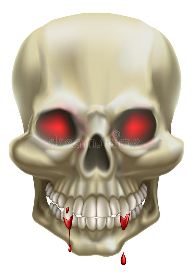 κόκκινο κρανίο ματιών διανυσματική απεικόνιση