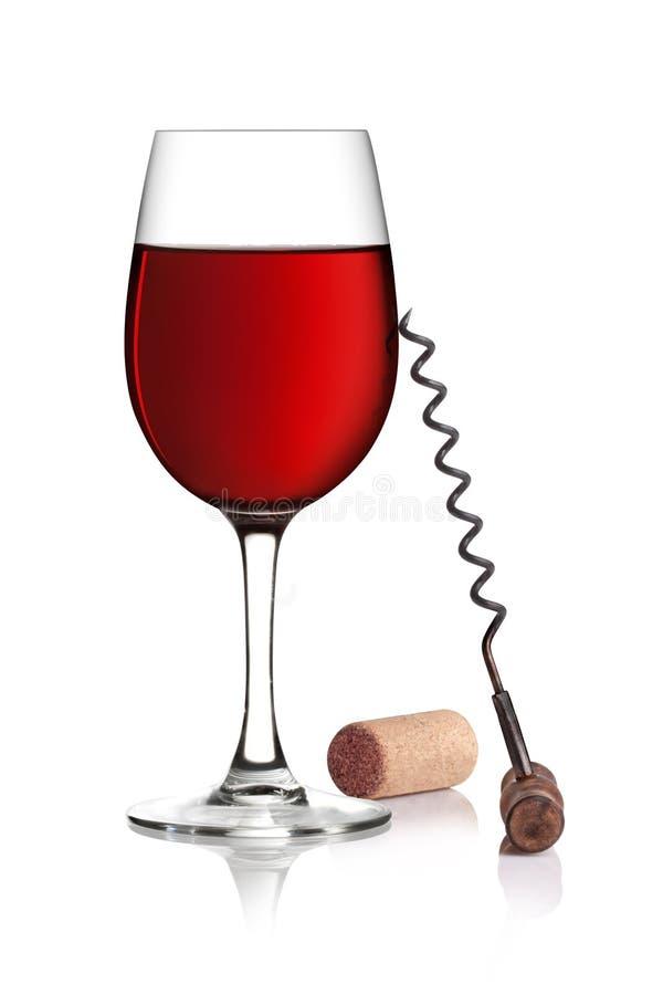 κόκκινο κρασί γυαλιού αν& στοκ φωτογραφία με δικαίωμα ελεύθερης χρήσης