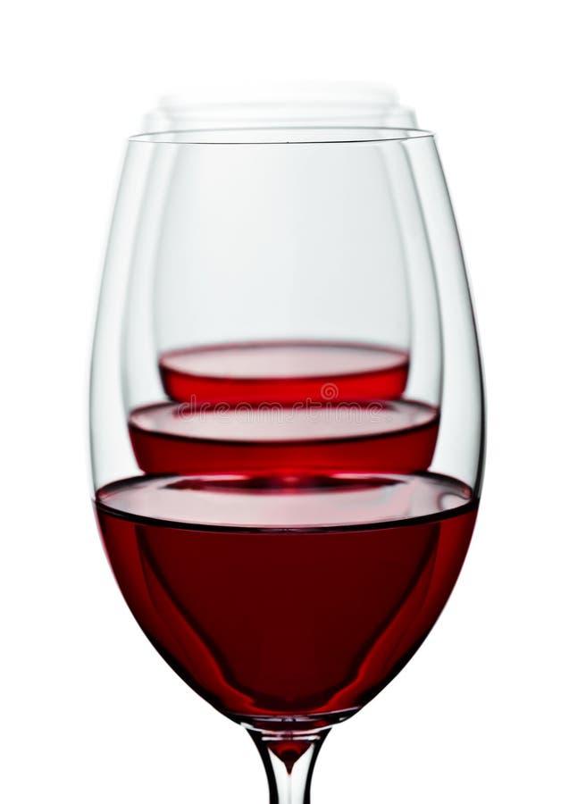 κόκκινο κρασί γυαλιών στοκ φωτογραφία