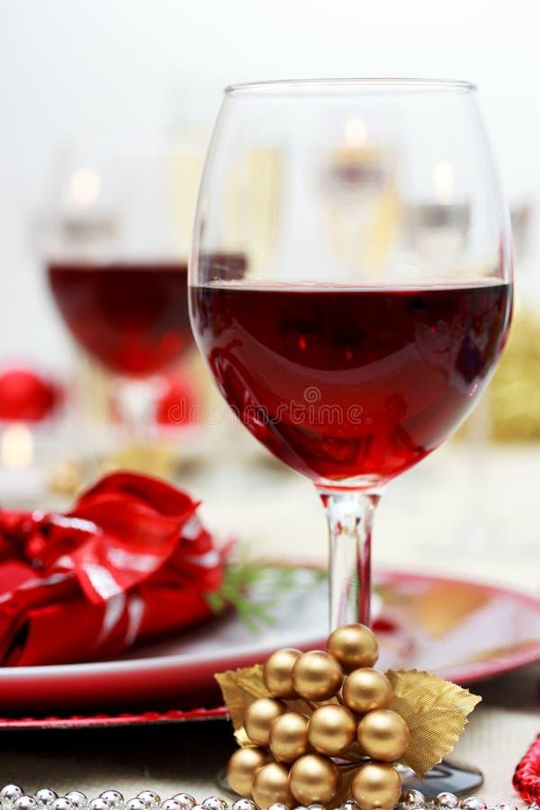 Κόκκινο κρασί διακοπών στοκ εικόνες με δικαίωμα ελεύθερης χρήσης